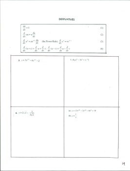 Calculus 1 Set #1 Pg 13-14  Derivatives