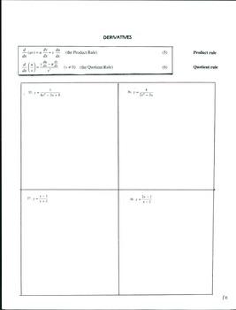 Calculus 1 Set #1 Pg 9-10  Derivatives