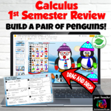 Calculus 1st Semester Review Digital Build a Pair of Penguins Distance Learning