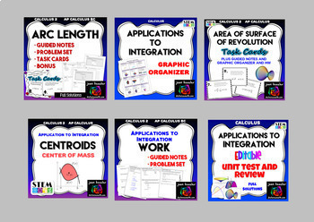 Calculus 2 Applications to Integration Part 3 Bundle of Activities