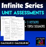 Calculus 2 Infinite Series Unit Exams