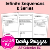 Infinite Sequences and Series Daily Quizzes (BC Calculus -