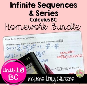 More on Series Homework (Calculus 2 - Unit 10)