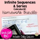 Infinite Sequences and Series Homework (BC Calculus - Unit 10)