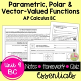 Parametrics Polars and Vectors Essentials (Calculus 2 - Unit 8)