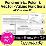 Parametrics Polars and Vectors Essentials (Calculus 2 - Unit 9)