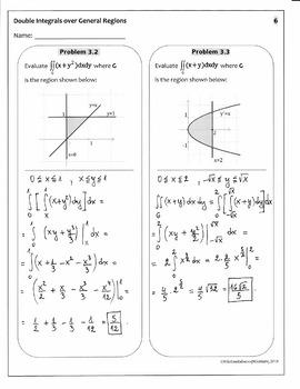 Integration : DOUBLE INTEGRALS over General Regions-42 integrals(full solutions)