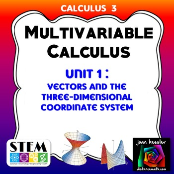 Calculus 3  Multivariable Calculus Unit 1  Exam