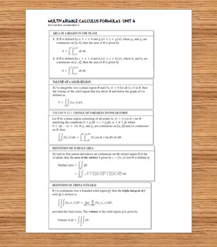 Calculus 3 Multivariable Calculus Unit 4 Exam