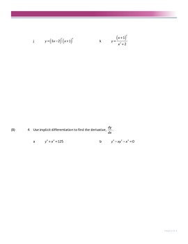 Calculus 30 Derivative Exam
