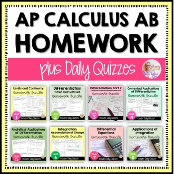AP Calculus AB Curriculum A Year of Homework