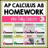 AP Calculus AB Homework Bundle (Full Year)