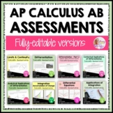 AP Calculus AB: A Year of Tests and Quizzes Bundle