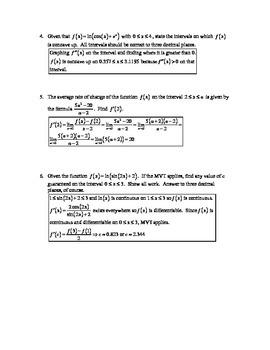 Calculus AB AP Exam Review Quizzes (2011-2012 Edition)