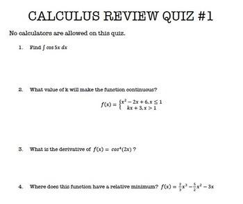 Calculus AB AP Review Bundle