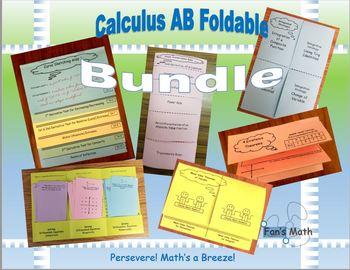 Calculus AB Foldables Bundle