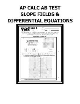 Calculus AB Test - 8 - Differential Equations