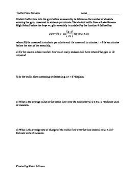 Calculus - AP Practice - Rates Problems