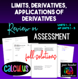 Calculus Review Units 1 - 3 or Semester 1 Final