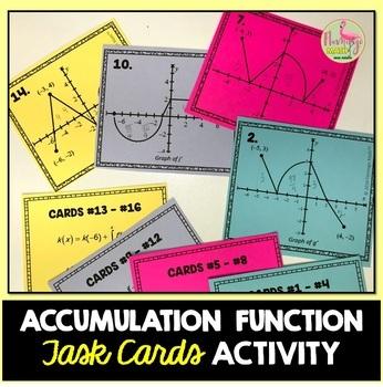 Calculus: Accumulation Function Task Cards Activity