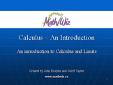 Calculus - An Introduction