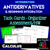 Calculus Antiderivatives Integration Task Cards  HW  Graph