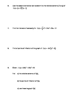 Calculus Applications of Derivatives