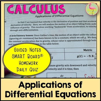 Calculus: Applications of Differential Equations