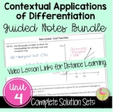 Contextual Applications of Differentiation Guided Notes (C
