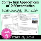 Contextual Applications of Differentiation Homework (Calcu