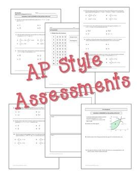 Applications of Integration Assessments (Calculus - Unit 6)