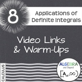Calculus: Applications of the Definite Integral - Warm-Ups