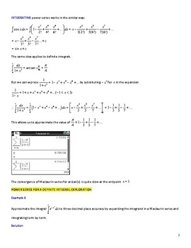 Calculus Applications with Maclaurin Power Series