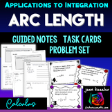 Arc Length Guided Notes, Task Cards, Graphic Organizer Calculus 2 AP Calculus BC