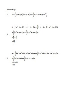 Calculus: Area Between Curves