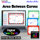 Calculus Area Between Curves  Digital Task Cards Distance Learning