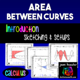 Calculus Area Between Curves Introduction Worksheet  Task