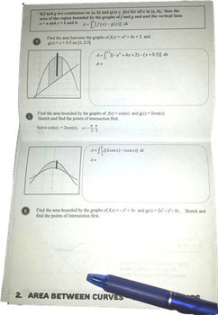 Calculus Area Under and Between Curves Flip Book - Guided Notes