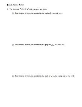 Calculus: Area & Volume