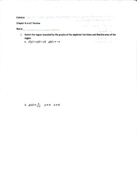 Calculus Area, Volume, and L'Hopital's rule review