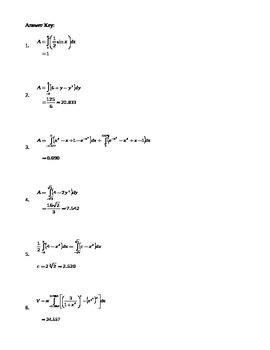 Calculus: Area & Volume problems
