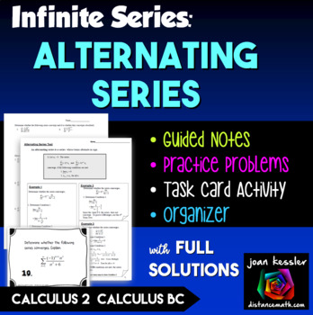 Calculus BC  Alternating Series Test for Convergence