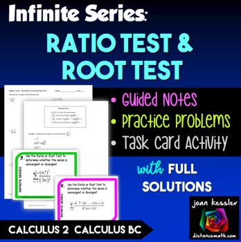 Calculus BC Calc2 Infinite Series  Ratio and Root Tests