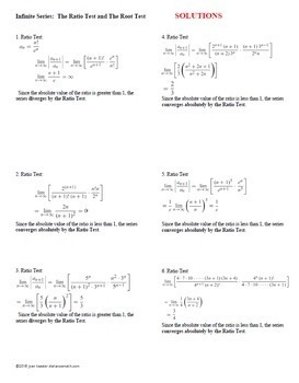AP Calculus BC Calculus 2 Infinite Series  Ratio and Root Tests