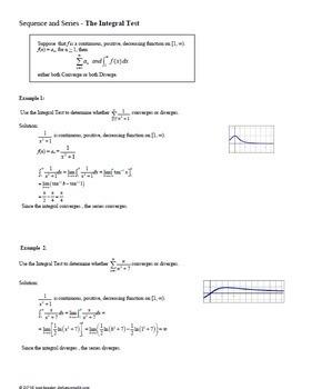 Calculus BC Calculus 2 Infinite Series - The Integral Test