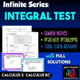 Calculus BC Calculus 2 Infinite Series - The Integral Test