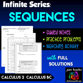 Calculus BC Calculus 2 Sequences - Infinite Series Unit