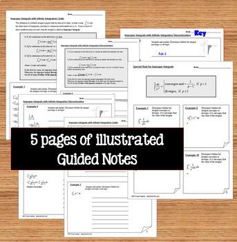 Calculus BC Improper Integrals Notes Task Cards  Quiz