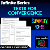 Calculus BC  Infinite Series Test for Convergence Summary