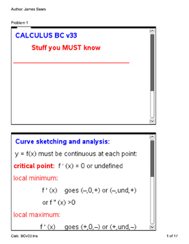 Calculus BC Notes